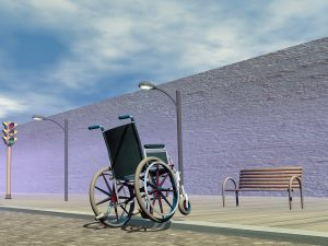 Obstacle for wheelchair - 3D render